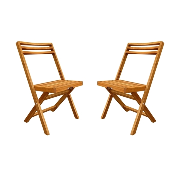 Picture of SLAT Heavy Duty Large Folding Chairs (Two-Pack) by Interbuild