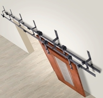 """Picture of 78.75"""", 98"""" & 118"""" Track Bypass Barn Door Hardware Kits"""