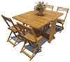 Picture of SLAT 5-Piece Butterfly Patio Dining Set by Interbuild