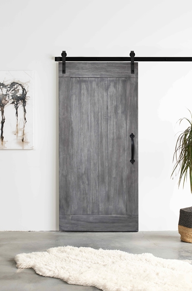 Picture of SHAKER Acacia Barn Door -  Textured Grey Finish by Interbuild