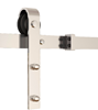 "Picture of 98"" Track Stainless Steel Bent Strap Barn Door Hardware Kit for Door Widths Up to 50"""