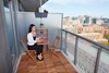Picture of SLAT 3-Piece Balcony Dining Set by Interbuild