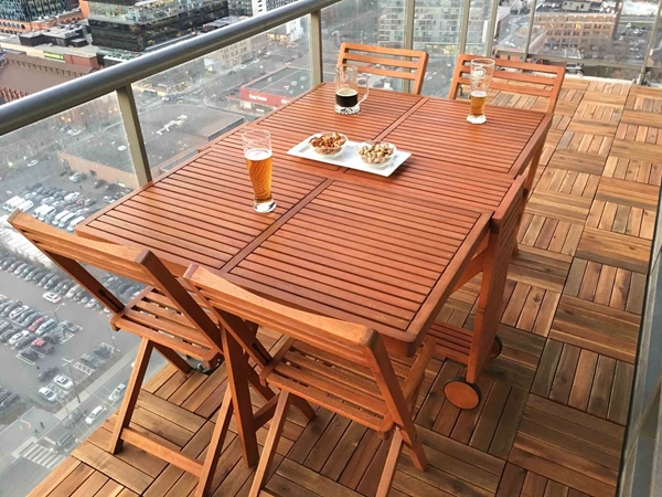 Picture of SLAT  5-Piece Large Dining Set by Interbuild