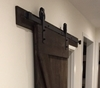 "Picture of 78.75"" Track Matt Black Big Wheel Barn Door Hardware Kit Track For Door Widths Up to 40"""