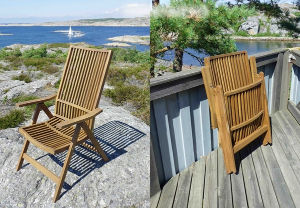 Picture of STOCKHOLM 5-Position Deck Chair (One-Pack) by Interbuild & stockholm-5-position-deck-chair. Trending Home Decor Canada