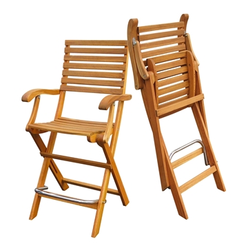 Picture of CASINO Folding Bar Stools (Two-Pack) by Interbuild